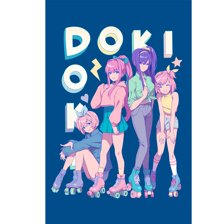 Doki Doki Roller Derby Poster
