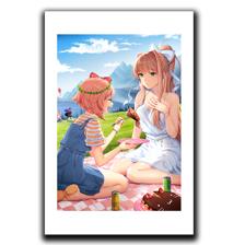Picnic Series - Sayori & Monika Art Print