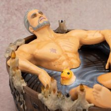 The Witcher 3: Wild Hunt: Geralt in the Bath Statuette